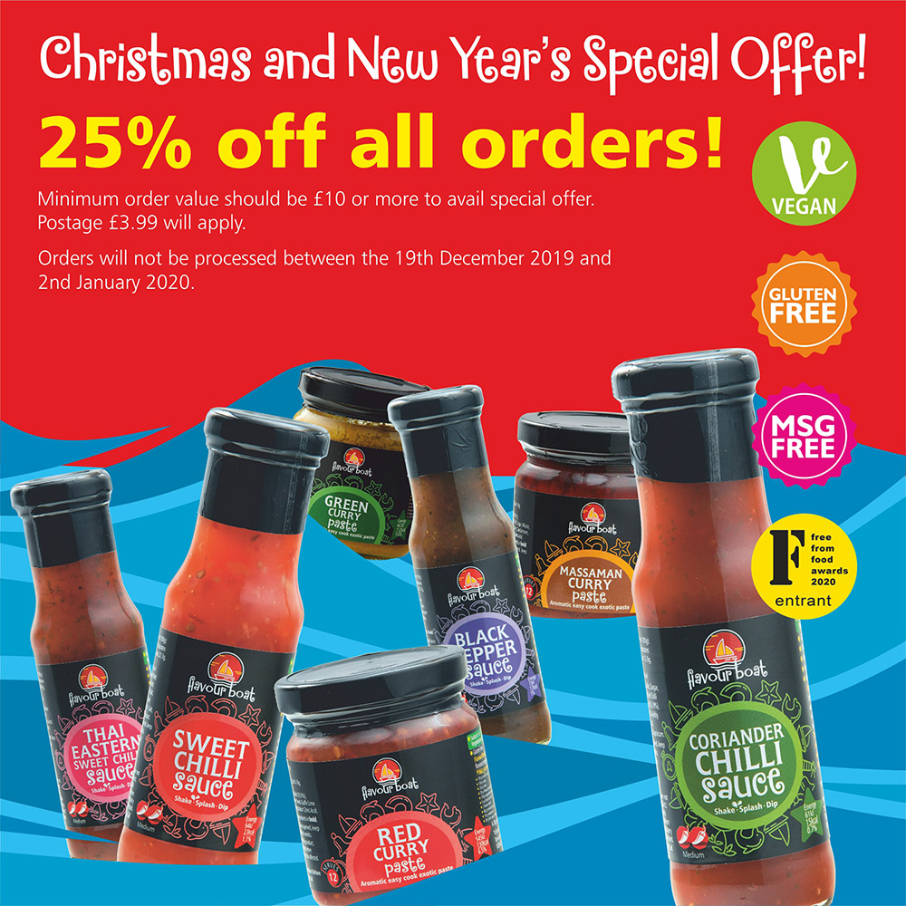 christmas offer - 25% off all orders