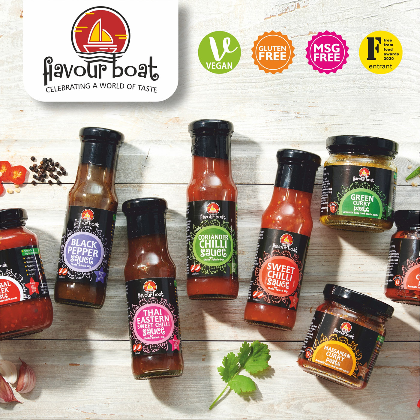 flavour boat sauces and pastes